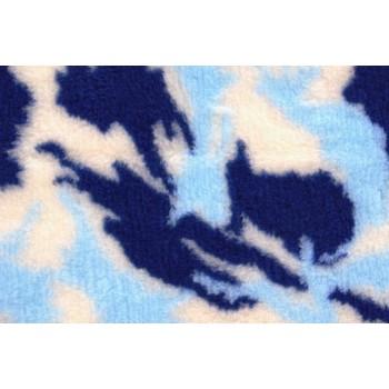 ProFleece коврик меховой 1х1,6м камуфляж синий/голубой/белый