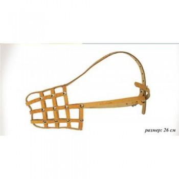 Аркон Намордник кожаный 26, размер 26 см, цвет натуральный, н26 (30879)