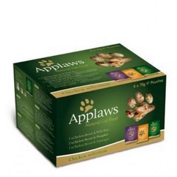 """Applaws / Эпплаус набор """"Куриное ассорти"""" для кошек: 6 паучей*70г 0,07 кг"""