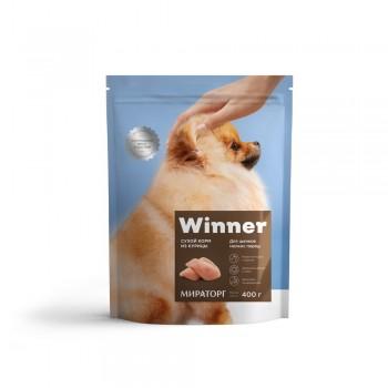 Winner / Виннер Корм сухой полнорационный для собак Мелких пород из Курицы, 800 гр