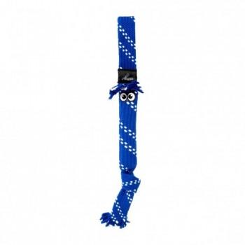 Rogz / Рогз Игрушка веревочная шуршащая SCRUBZ , большая, синий (SCRUBZ ROPE TUG TOY SM)