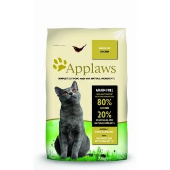 """Applaws / Эпплаус для Пожилых кошек """"Курица/Овощи: 80/20%"""" 7,5 кг"""