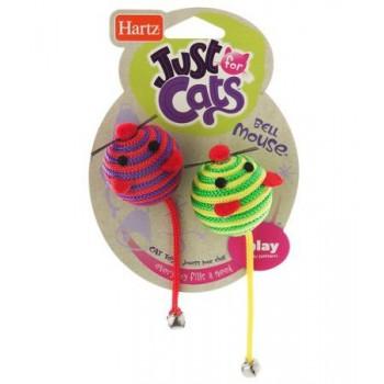 Hartz / Хартц Игрушка д/кошек - Две круглых Мышки, с колокольчиками, мягкая JFC Bell Mouse cat toy