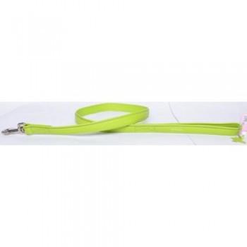 CoLLaR Glamour Поводок кожаный, двойной прошитый без украшений, 122см*25мм, зеленый (33765)