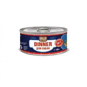Solid Natura Dinner / Солид Натур Диннер Говядина влажный корм для собак жестяная банка 0,1 кг