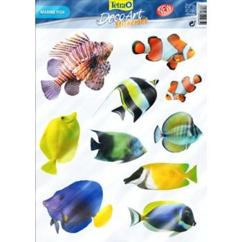 "Tetra / Тетра Deco Art набор наклеек ""Морские рыбы"""