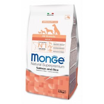 Monge / Монж Dog Speciality корм для собак всех пород лосось с рисом 2,5 кг