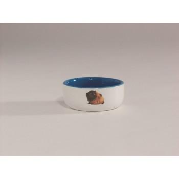 Beeztees / Бизтис 801640 Миска керамическая с изображением морской свинки, голубая 160мл*10см