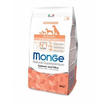 Monge / Монж Dog Speciality Puppy&Junior корм для щенков всех пород лосось с рисом 800г