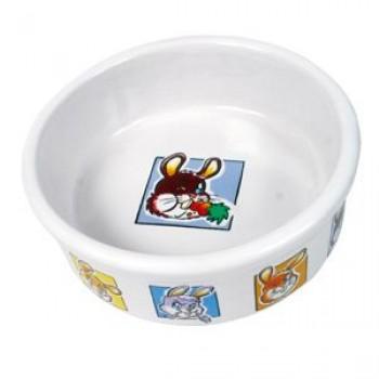 Trixie / Трикси Миска д/Кролика керамическая с рисунком 0,3л*11,5см 62953