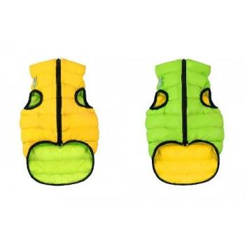 AiryVest / ЭйриВест курточка двухсторонняя, размер XS 22, салатово-желтая