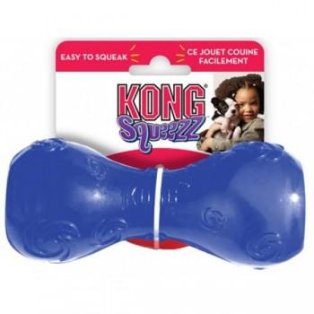 Kong / Конг игрушка для собак Сквиз Гантеля малая резиновая с пищалкой