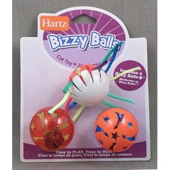 Hartz / Хартц Игрушка д/кошек - Три шарика с колокольчиком, пластик Bizzy Balls Cat Toy/3 pack
