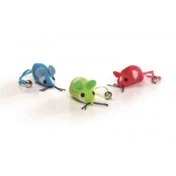 """Beeztees / Бизтис 430333 Набор игрушек д/кошек """"Мышь с колокольчиком на хвосте"""" 3шт*5см (блистер)"""