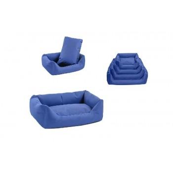 Yami-Yami / Ями-Ями Лежак прямоугольный с подушкой №2, 71*51*21см тёмно-синий (9402син)