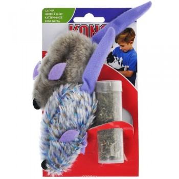 """Kong / Конг игрушка для кошек """"Мышки"""" 2 шт. плюш с тубом кошачьей мяты"""
