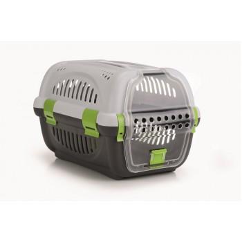 Beeztees / Бизтис 715010 Переноска для транспортировки животных серо-зеленая 51*34,5*33см