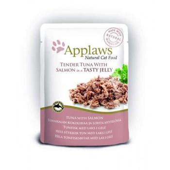 "Applaws / Эпплаус паучи для кошек ""Кусочки тунца с Лососем в желе"" 0,07 кг"
