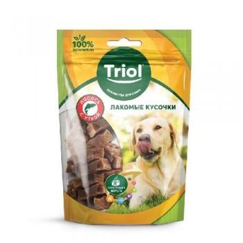 Triol / Триол Лакомые кусочки из лосося с уткой для собак, 70г