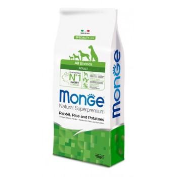 Monge / Монж Dog Speciality корм для собак всех пород кролик с рисом и картофелем 12 кг