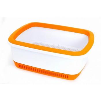 Canada Litter Кошачий туалет с системой защиты от запаха CatEco - оранжевый