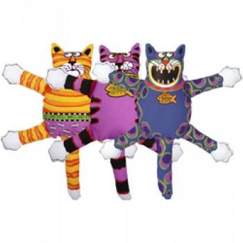 """Fat Cat Игрушка д/собак - """"Злобный кот"""", маленькая, мягкая,, Mini Terrible Nasty Scaries Dog Toy (635104)"""