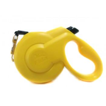 Fida / Фида Styleash Стильная рулетка 5м с выдвижным шнуром для собак средних пород до 25 кг желтая 5135648