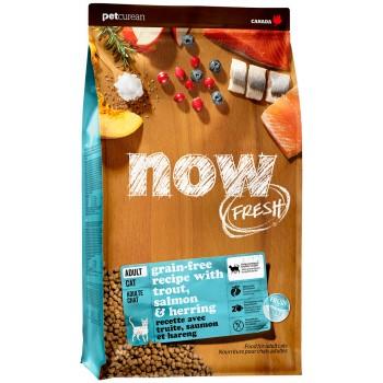 Now! / Нау! Беззерновой для Взрослых Кошек с Форелью и Лососем для чувств. пищеварения  (Grain Free Fish Adult Recipe CF) 30/19, 1,81 кг