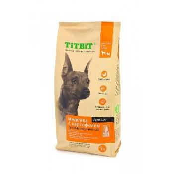 TitBit / ТитБит Корм сухой гипоаллергенный для собак всех пород Индейка с картофелем 3 кг