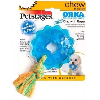 "Petstages / Петстейджес игрушка для собак Mini ""ОРКА кольцо с канатом"" диаметр 8 см маленькая"