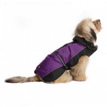 Dog Gone Smart / Дог Гон Смарт Нано куртка зимняя с меховым воротником Aspen parka 50,8см, фиолетовый