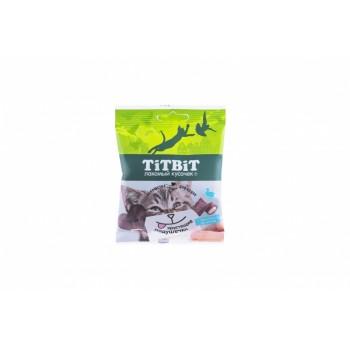 TitBit / ТитБит Хрустящие подушечки для кошек с паштетом из утки 30 г