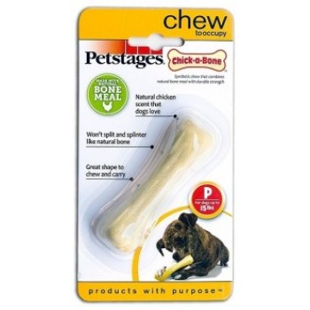 Petstages / Петстейджес игрушка для собак Chick-A-Bone косточка с ароматом курицы 8 см очень маленькая