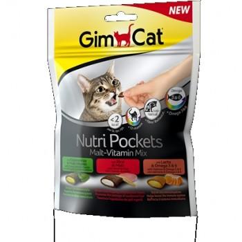 Gimcat / ГимКэт Подушечки Нутри Покетс Мальт-Витамины Микс д/кошек, 150 г