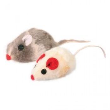 """Trixie / Трикси Набор игрушек д/кошек """"Мышки разноцветные с кошачьей мятой"""", мех 5см*6шт 4503"""