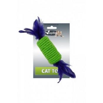 """Papillon / Папиллон Игрушка для кошек """"Рулет с перьями"""" 10см"""