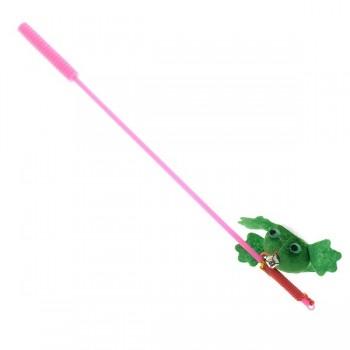 V.I.Pet Игрушка для кошки Дразнилка удочка с игрушкой `Лягушка` /12/ ST-105