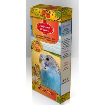 Родный корма Зерновая палочка для попугаев 45г х 2шт. с медом 1х18 3154
