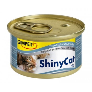 Gimpet / Гимпет Консервы Shiny Cat с тунцом и креветками д/кошек, 70г