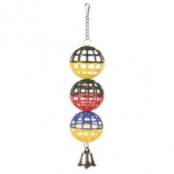 Trixie / Трикси Игрушка д/птиц 3 пластиковых шарика с колокольчиком ф5см 5251