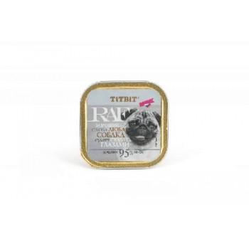 TitBit / ТитБит Консервы для собак RAF Кролик 100 г - ламистер