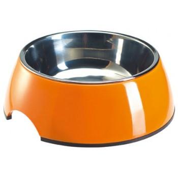 SuperDesign миска на меламиновой подставке оранжевая 0,35 л