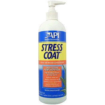API / АПИ Стресс Коат - Кондиционер для декоративных рыб и воды (помповый дозатор) Stress Coat, 473 ml