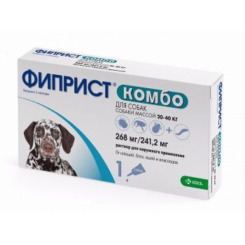 ФИПРИСТ KRKA КОМБО р-р для наружного применения для собак 20-40 кг 1х2,68мл