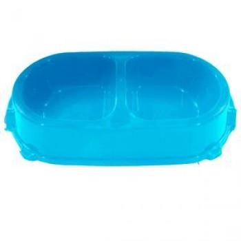 Favorite / Фаворит миска пластиковая двойная нескользящая 0,45л. голубая
