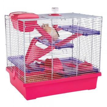 Rosewood Клетка для мелких грызунов PICO XL, розовая
