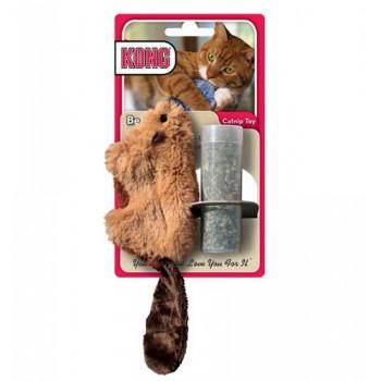 """Kong / Конг игрушка для кошек """"Бобер"""" плюш с тубом кошачьей мяты"""