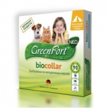 Green Fort / Грин Форт БиоОшейник от блох и других эктопаразитов д/собак мелких пород 35см