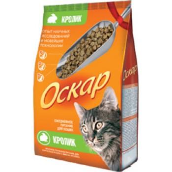 Оскар сухой для кошек с мясом кролика МКБ 0,4 кг
