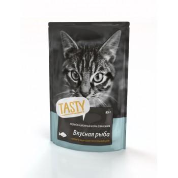 TASTY Petfood ПАУЧ д/кошек с рыбой в желе 85г*25 (02TS794)
